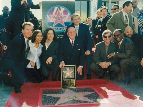 Clive Davis receiving his star on the Hollywood Walk of Fame