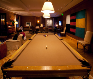 pool in Tom Gores' office