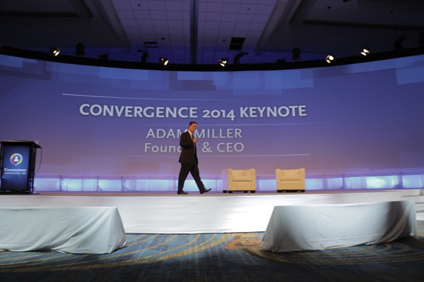 Miller delivering his keynote address at Cornerstone OnDemand's 12th annual Convergence event held in San Diego, CA