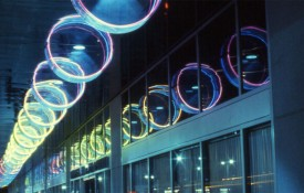 """Of Note: Michael Hayden's """"Generators of the Cylinder"""" Shining Bright Above Downtown Los Angeles' Jewlery District"""