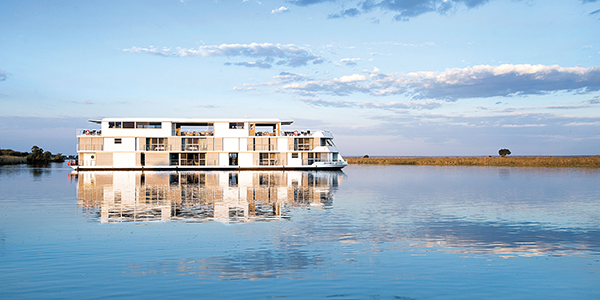 The Zambezi Queen, rolling down the river