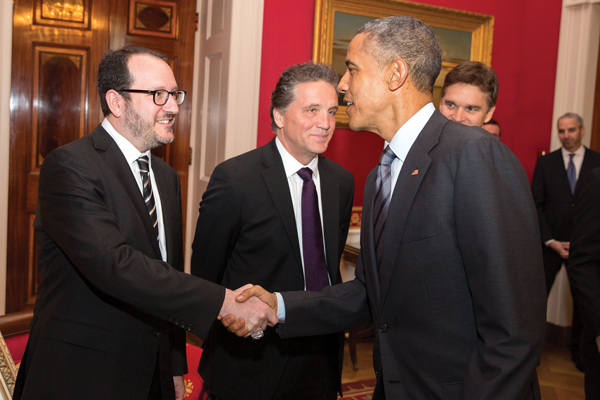 Dan Beckerman meets Barrack Obama
