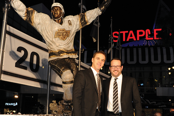 Dan Beckerman with Luc Robitaille