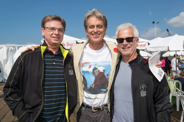 McClenahan with Bobby Shriver and Rob Friedman, co-chair, Lionsgate Motion Picture Group