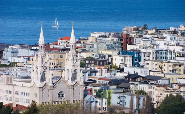 San Francisco encompasses 46.9 square miles, roughly 10% of the Los Angeles metro area