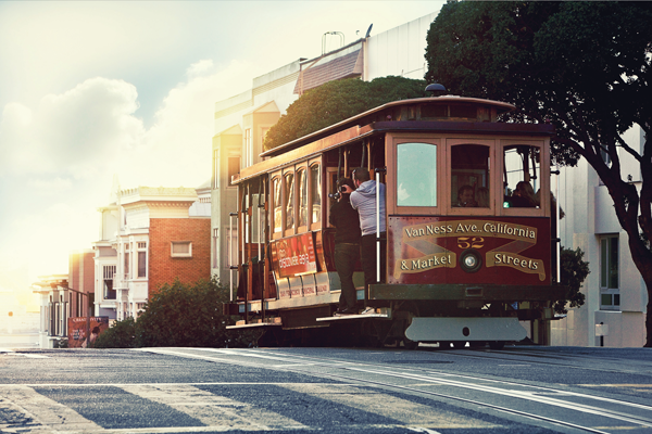 The city's first cable car line, the California St. Line, began operating in 1878.