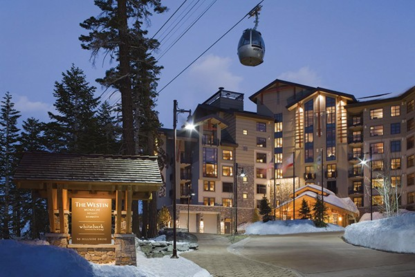 The Westin Monache Resort, just steps from The Village, where gondola rides are available to the top of Mammoth Mountain