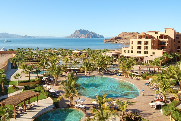 View of the Pacific from the Villa del Palmar in Loreto, Mexico