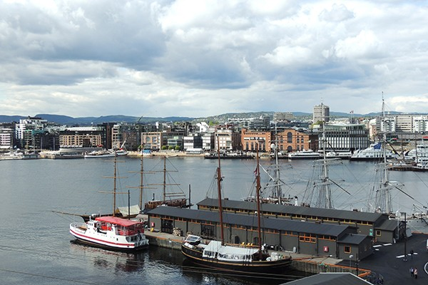 A view of Oslo from the water