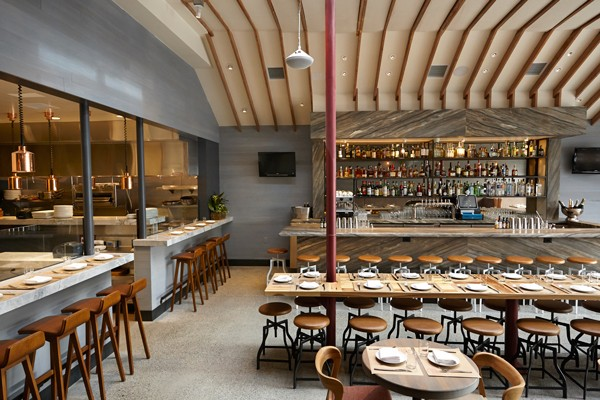 Love & Salt's open kitchen and dining room