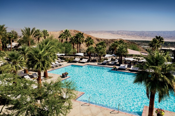 Poolside with a view at the Ritz-Carlton, Rancho Mirage