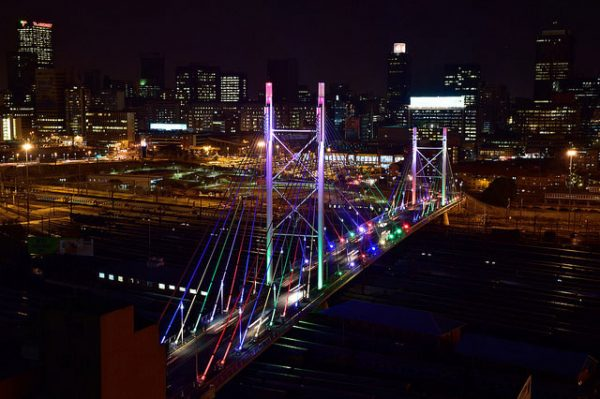 The Nelson Mandela Bridge in Johannesburg