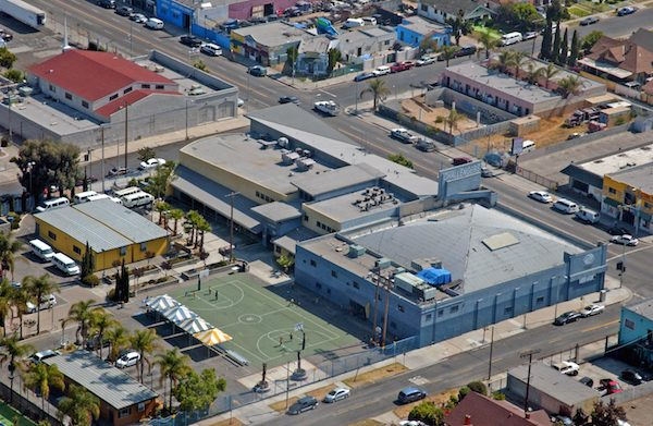Areal shot of the Challengers Campus in Metro Los Angeles.