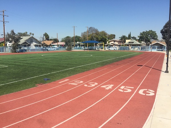 The Challengers Center track, a part of the holstic wellness program and the Boys & Girls Club of Metro LA