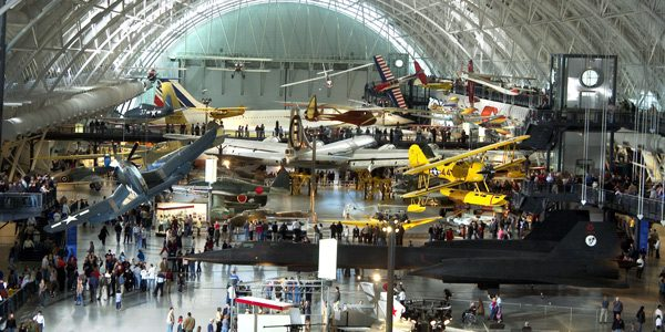 Steven F. Udvar-Házy hangar at the Smithsonian National Air and Space Museum in Chantilly, VA