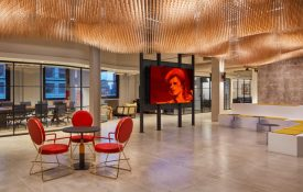 Innovative Office: BMG Music's Office has a Sculpture Made of 10,000 Drumsticks